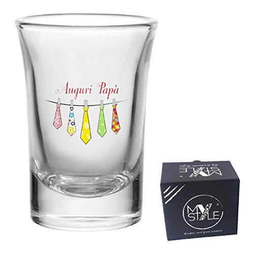 My Custom Style Bicchierino liquore in Vetro#Festa del papà-Auguri1#