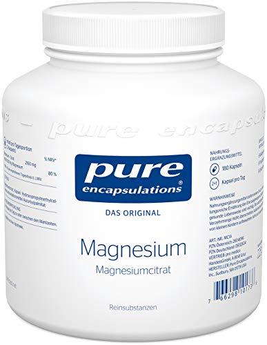 Pure Encapsulations - Magnesium (Citrat) 150mg - Bioverfügbares Magnesiumcitrat - 180 vegane Kapseln