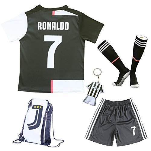 2019 2020 Juventus 7 Cristiano Ronaldo Heim Kinder Fussball Trikot Hose Und Socken Kindergrossen Heim 28 11 12 Jahre