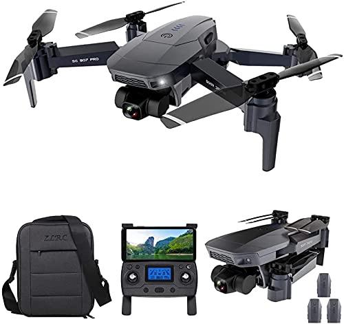 Drone RC con cámara, SG907 Pro GPS Drone RC con cámara 4K 2-Axis Gimbal 5G WiFi FPV Posicionamiento de flujo óptico Quadcopter Punto de interés Waypoint Vuelo 800M Distancia de control (3 Baterías)