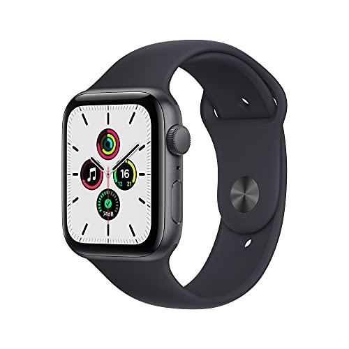 Apple Watch SE(GPSモデル)- 44mmスペースグレイアルミニウムケースとミッドナイトスポーツバンド - レギュラー