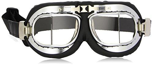 Bottari 64000 Thunder Cromati Gafas de Motociclista, Color Negro
