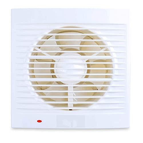 QZH Ventilador silencioso, Ventilador de ventilación, Ventilador de Techo y Montaje en Pared para baño de Cocina, bajo Nivel de Ruido, Escape Fuerte