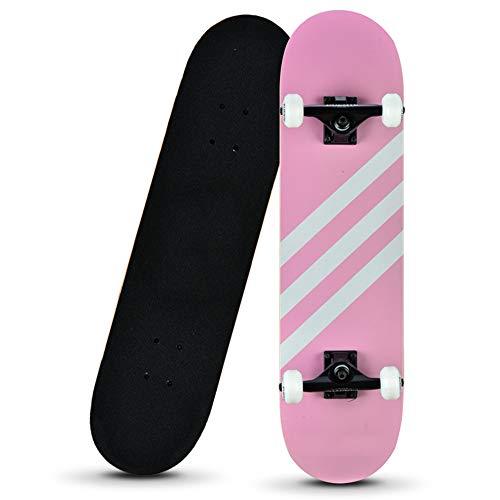 Z-Meng Zhong Skateboard, Un Monopatín Profesional De 31 Pulgadas Completo, Monopatín De Arce De 8 Capas, Adecuado para Niños De 6 A 12 Años, Principiantes, Niñas, Niños Y Adolescentes.