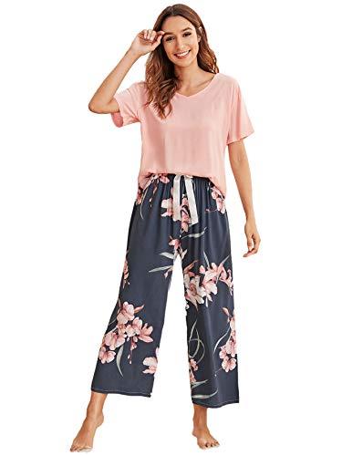 SOLY HUX Mujer Conjunto de Pijama de Manga Corta para Mujer