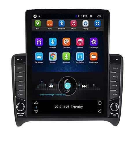 Android Car Stereo Radio Double Din Sat Nav Compatible con Audi TT TTS 2006-2012 Navegación GPS Reproductor multimedia con pantalla táctil vertical de 9.7 pulgadas Receptor de video con cámara traser