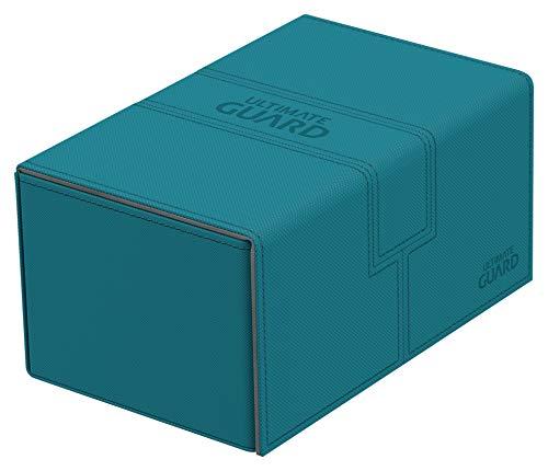 Ultimate Guard UGD010648 - Twin Flip´n´Tray Deck Case Standardgröße XenoSkin, Petrolblau
