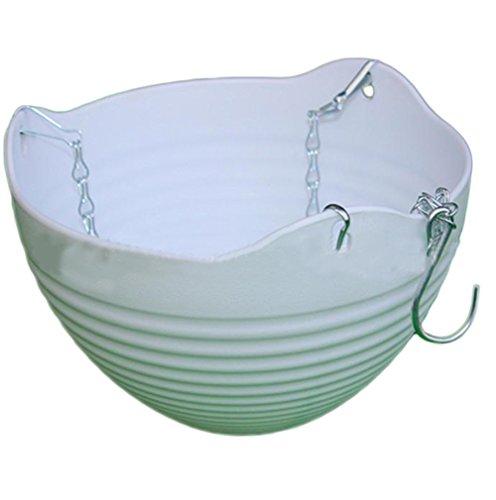 Pot en plastique par Outflower, pot à suspendre ou à poser, décoration de la maison, Plastique, blanc, 13*20CM