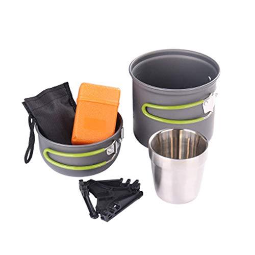 Lwieui Utensilios de Cocina de Camping Camping Utensilios de Cocina Set Camping Pot Picnic Senderismo Utensilio Gear Picnic Utensilios de Cocina Juego de Herramientas de Cocina Cookware de Campamento