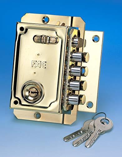 Fac seguridad s-90p - Cerradura sobreponer izquierda/o dorado: Amazon.es: Bricolaje y herramientas