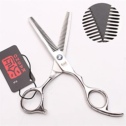 STST Tijeras de peluquería de Acero Inoxidable de 5,5/6,0 Pulgadas, Tijeras de Dientes de Doble Cara, Tijeras de Adelgazamiento, Tijeras de peluquería, salón, hogar,5.5inch
