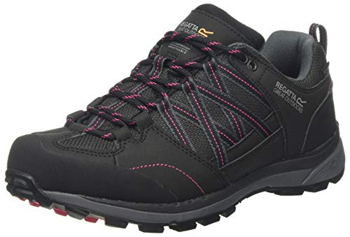 Regatta Damen Samaris Ii Low' Walking Shoes Trekking- & Wanderhalbschuhe, Schwarz (Black/Duchess Pn5), 36 EU