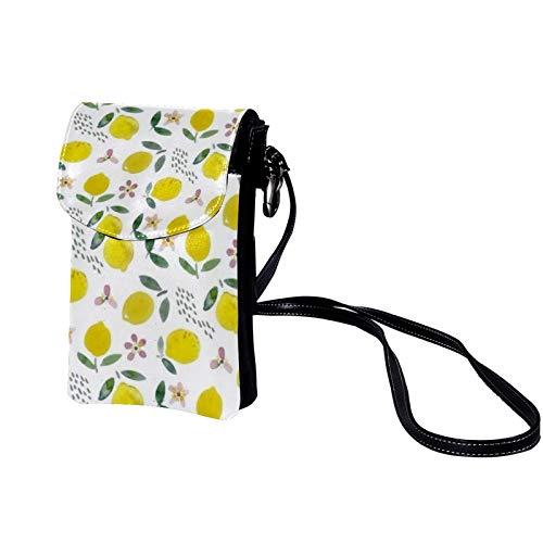 TIZORAX Kleine Umhängetasche mit Zitronen- und Erdbeer-Samen, für Damen und Mädchen