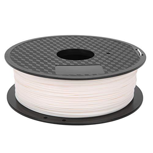 Accesorios para impresoras 3D, filamento de 1,75 mm Práctico portátil pequeño blanco de 1,75 mm para el hogar para la industria para la impresora para suministros de impresión