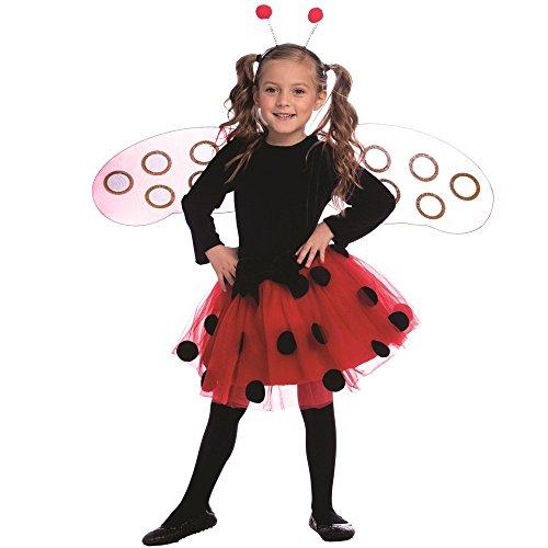Dress Up America Disfraz de Mariquita para niñas