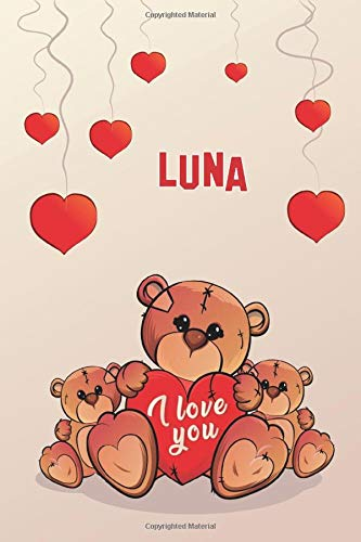 i love you: Luna Journal notebook, (Composition Book, Journal) (6 x 9 Large) 120page (C3)