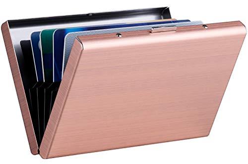 MaxGear RFID Blocking Credit Card Holder RFID Credit Card Wallet Stainless Steel Wallet Metal Credit Card Case Metal