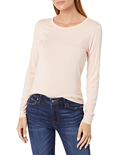 The Drop Women's Hannah Long-sleeve Crew Neck Fitted T-shirt