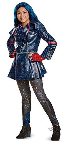 Disguise Evie Prestige Descendants 2 Costume, Blue, Large (10-12)