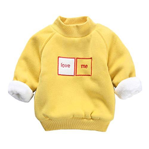 Taigood Kinder Kawaii Pullover Weich Plüsch Warm Druck Muster Sweatshirt Tops Mädchen Junge 1-5 Jahre