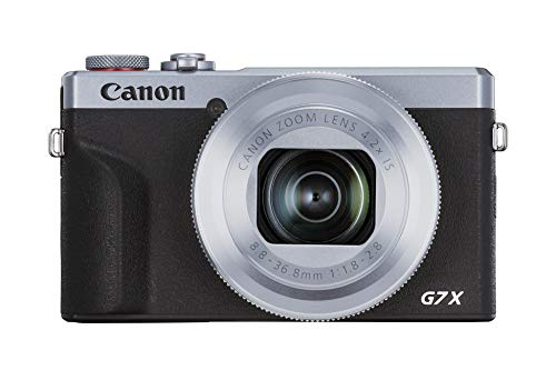Canon PowerShot G7 X Mark III Digitalkamera (20,1 MP, 4,2-fach optischer Zoom, 7,5cm (3 Zoll) LCD-Touchscreen, klappbar, DIGIC 8, 4K, Full-HD, WLAN, Bluetooth, Blendenautomatik; Zeitautomatik) silber