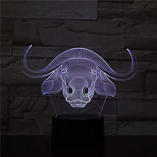 7 kleuren Horse 3D LED lamp Visuell LED nachtverlichting voor kinderen Touch USB tafellamp lamp baby slee nachtlight Star Light