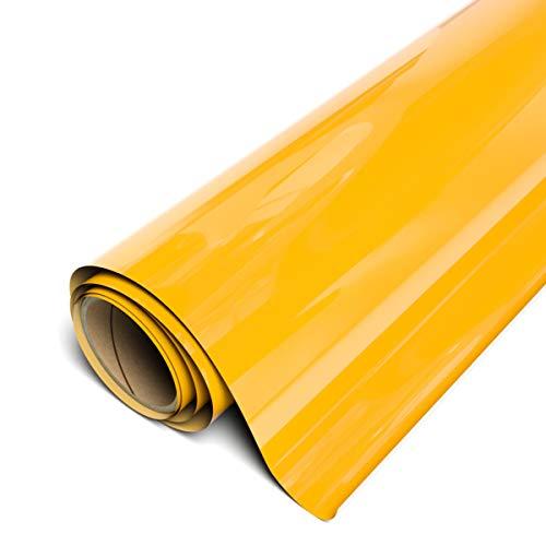 "Siser EasyWeed HTV 11.8"" x 3ft Roll - Iron on Heat Transfer Vinyl (Sun Yellow)"