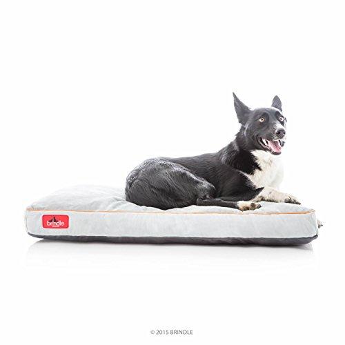 Brindle Soft Shredded Memory Foam Dog Bed with...