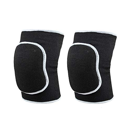 Workouty 1 Pair Compression Elbow Pads Arm Brace Support Fitness Arm Knee Protector Volleyball Basketball Breathable Elbow Wraps (Black)