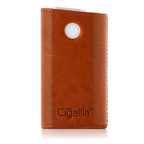 Cigallia(シガリア) glo レザーケース ソフトレザー PUレザー gloケース 収納ケース レザー カバー 3R SYSTEMS ブラウン