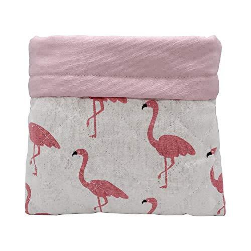 Ymid Select Saco de dormir hecho a mano de lona, cueva de escondite para erizo, cobaya, hámster, rata, huón, chinchilla, ardilla y camas de animales pequeños (grulla rosa)