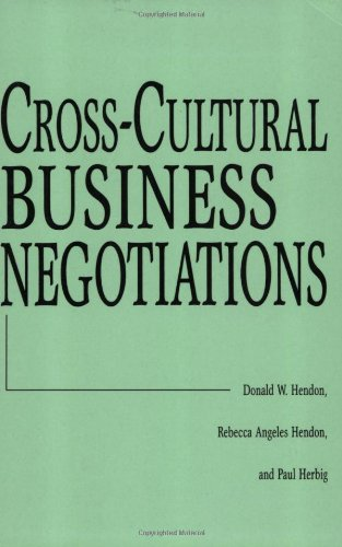 Cross-Cultural Business Negotiations