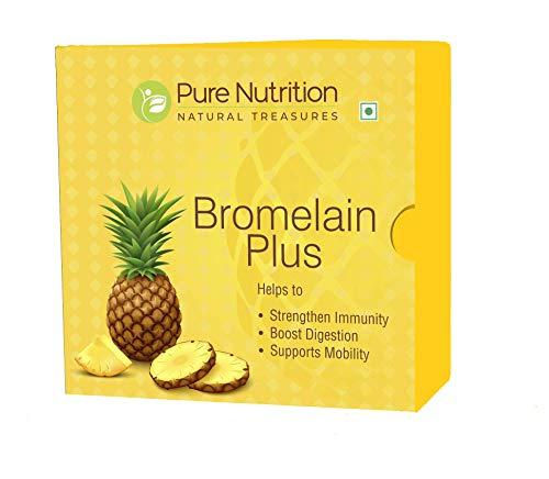Pure Nutrition Bromelain Plus 2400 GDU - Bromelain Enzymes with Vitamin D3, C, and B6. (15 Sachet X 3 Grams) 45 Gram Pack. Non-GMO | Gluten-Free