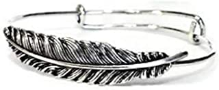 Moonstone Creations Feather Bangle Bracelet, Cute Feather Jewelry