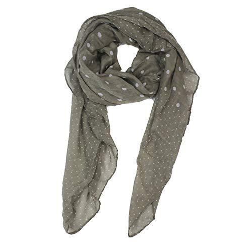 Glamexx24 Dames XXL stippen print sjaal halsdoek hoofddoek tube sjaal gestolen voor lente zomer het hele jaar door