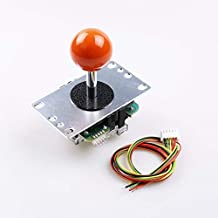 SANWA JLF-TP-8YT Orange Ball Top Handle Arcade Joystick 4 and 8 Way Adjustable - Hori Fight Stick Repair Part (Mad Catz SF4 Tournament Joystick Compatible) - Orange