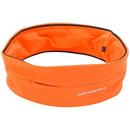 Ultrasport con Compartimento de Tubo Cinturón de Correr, Unisex, Naranja, S