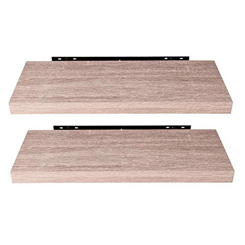 EUGAD 0051QJ-2 Wandregal Wandboard 2er Set Hängeregal Holz Board Modern Sonoma Eiche 60x22,9x3,8cm