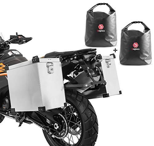 Set Motorrad Alukoffer Bagtecs Namib 35-40l + Drybag Innentaschen Seitenkoffer