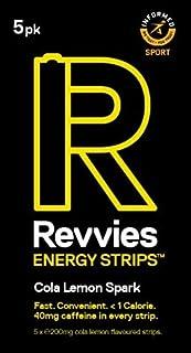 Revvies Energy Strips | Cola Lemon | 50 strips | 40mg Caffeine Strip | 2 strip = coffee/energy drink | Less than 2 Calorie...