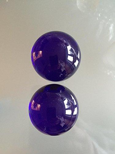 Glaskugeln in edlem blau Ø 40 mm, 2 Stück