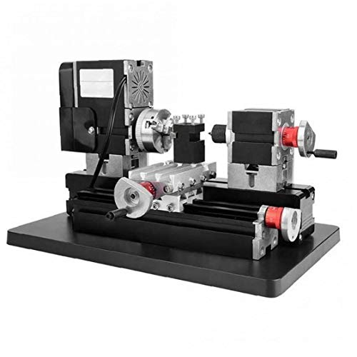 NaiCasy TZ20002MG 60W Mini Metal Lathe B Machine with 12000r/min Motor Larger Processing Radius DIY Tools
