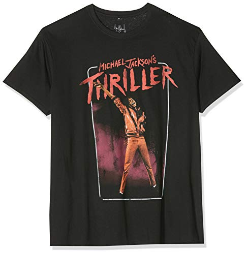 MERCHCODE Herren Michael Jackson Thriller Video T-Shirt Black, XL