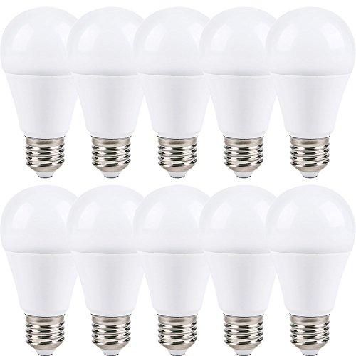 10X Lampadine LED E27Opal Matt Bianco Caldo 2700K 240°, E27, 7.00 wattsW, 230.00 voltsV