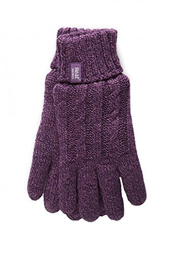 HEAT HOLDERS - Damen Thermisch Winter Handschuhe in 7 Farben (M/L, Lila)