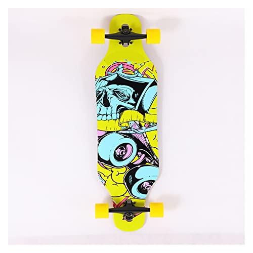 Pegatina de monopatín Skateboards 41inch Skateboards para adultos u adolescentes, tablero de skate Cruiser de arce, incluyendo camiones, ruedas de PU, patrón trasero La mayoría de los suministros depo