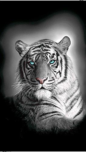 Textil Tarragó Tigre Toalla Estampada, Algodón, Multicolor, 32x45x3 cm