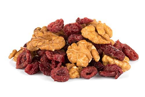Miscela di noci e mirtilli rossi BIO 1 kg biologica, cranberries e noci non salati, non torrefatto, vegano, 100% naturale 1000g