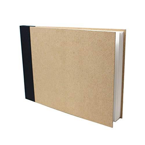 Artway Enviro - Gebundenes Skizzenbuch - 100% Recycling-Zeichenpapier - Hardcover - 92 Seiten mit 170 g/m² - 1 x A4 Querformat