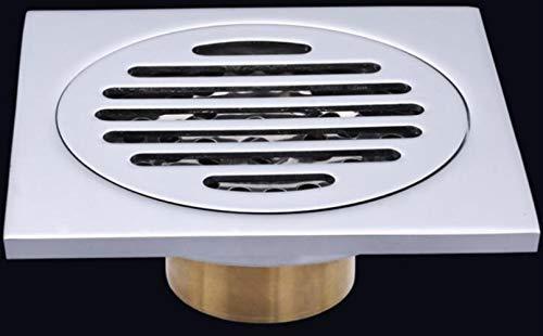 XINGSHANG Bodenablauf Duschablauf 10X10Cm Geruchsprävention Badezimmer Waschmaschine Messing Bodenablauf Edelstahl Wasserfilter Anti-Backwater Bodenablauf, A.